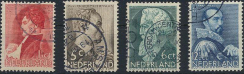 Niederlande 282-285 gestempelt - Sommermarken 1935