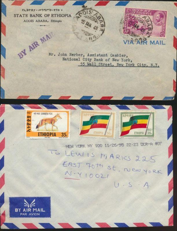 3 Briefe Äthiopien Ethiopia Covers u.a. Flugpost 249