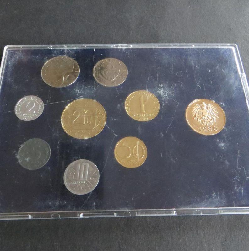Österreich 1980 offizieller Kursmünzsatz Original-Bliesterpack PP