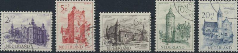 Niederlande 570-574 gestempelt  Sommermarken 1951 Burgen
