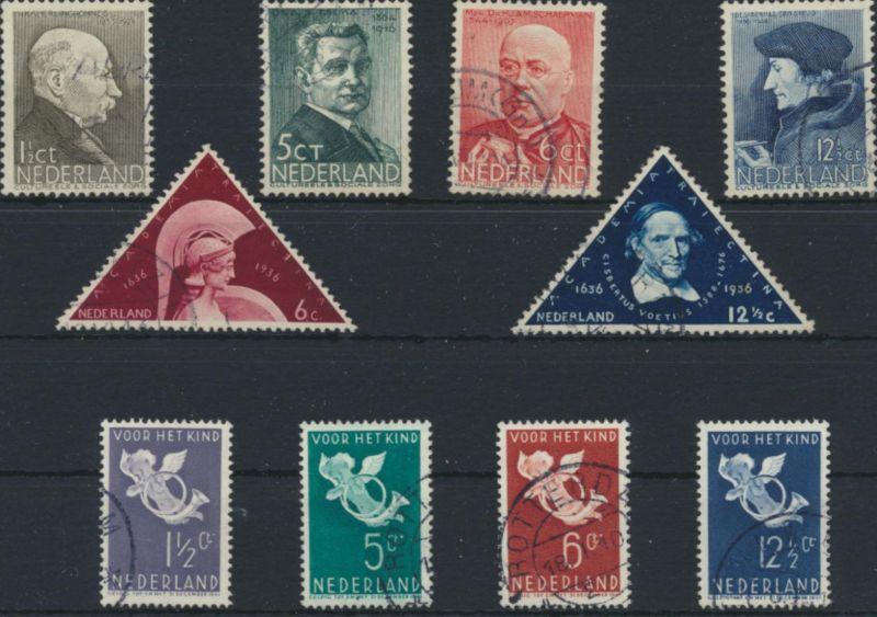 Niederlande 291-300 gestempelt - Jahrgang 1936 komplett