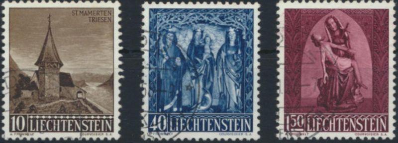 Liechtenstein 362-364 gestempelt  Weihnachten 1957