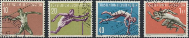 Liechtenstein 365-368 gestempelt  Sport V