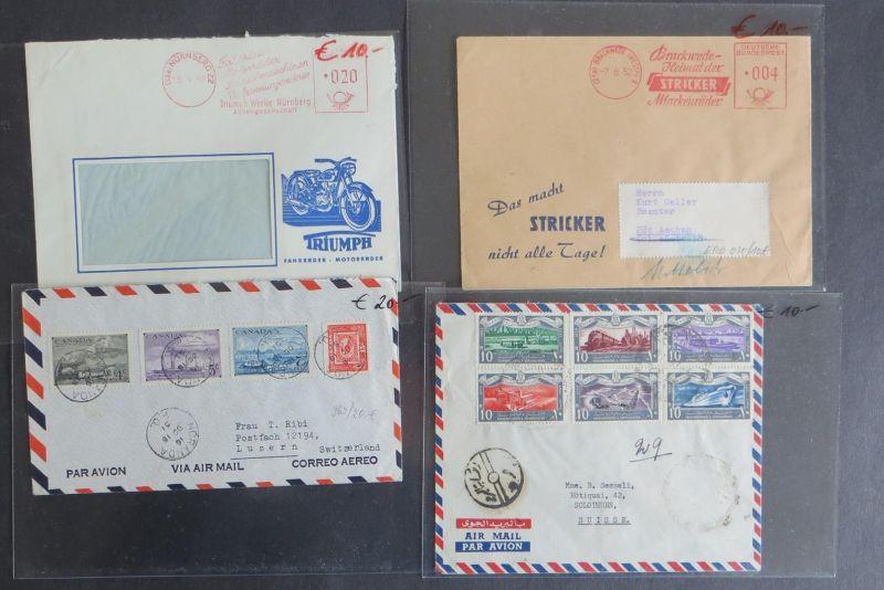 Verkehr interessante Sammlung von ca. 36 BriefenKarten & Ganzsachen