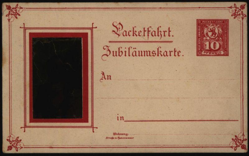 Stadtpost Privatpost Ganzsache Berlin P 49 Paketfahrt Jubiläumskarte Kaiser 0