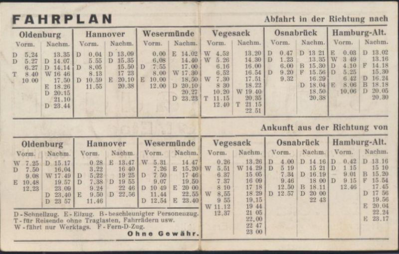 Reklame Staubsauger Otto Sitz Ausstellung und Zugfahrplan Bremen