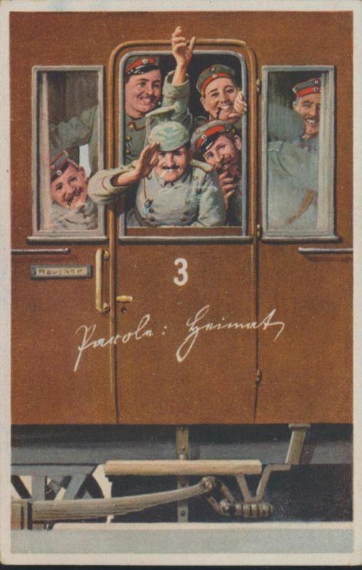 Ansichtskarte Militaria Deutsche Schützengraben Karte Nr. 8 Feldpost n. Nürnberg