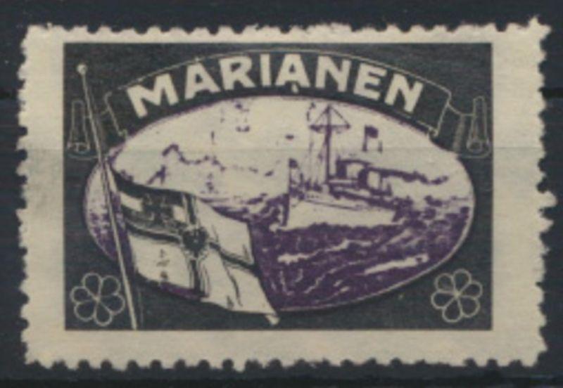 Deutsche Kolonien Marianen Vignette Kaiseryacht