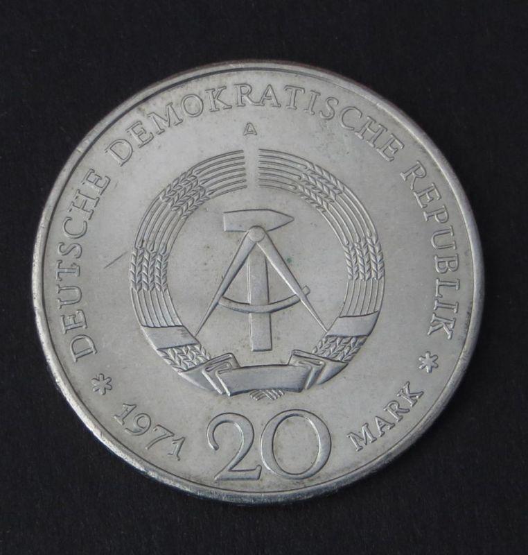 Ddr Gedenkmünze 20 Mark Ernst Thälmann 1971 Vorzüglich Vz Nr