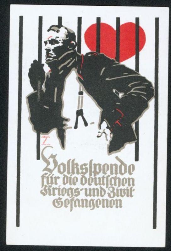 Ansichtskarte Ludwig Hohlwein Künstler Volksspende Kriegs - und Zivilgefangene