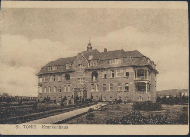 Ansichtskarte Foto St. Tönis Krankenhaus Parkanlage 0