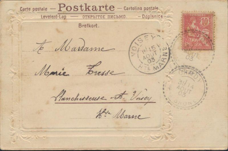 Ansichtskarte Prägekarte Künstler Ormoy nach Voisey 1903 Frankreich Venedig 1