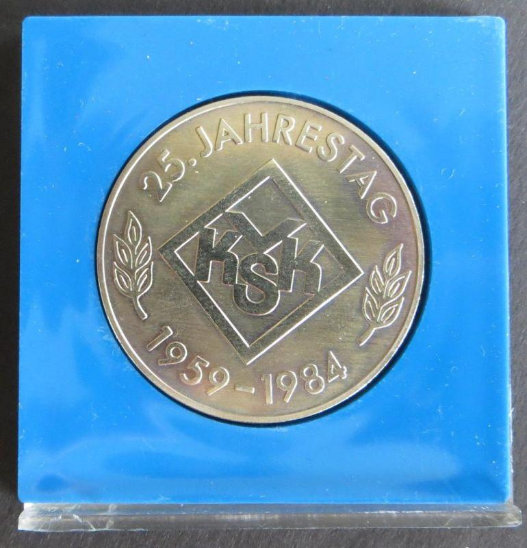Medaille 1984 Verband der Kleingärtner VKSK DDR 25. Jahrestag vz