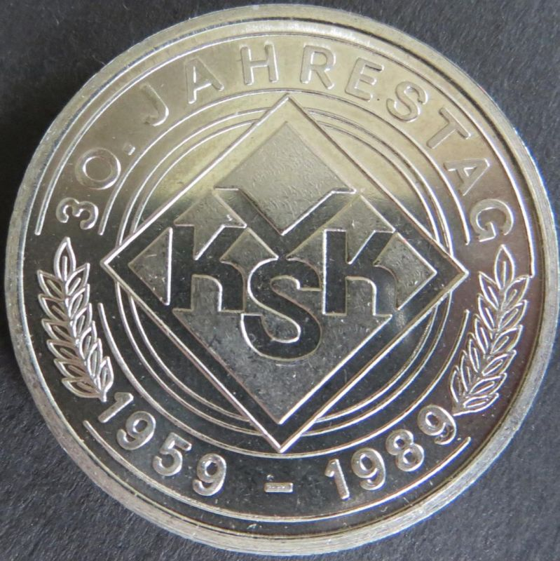 Medaille 1989 Verband der Kleingärtner VKSK DDR 30. Jahrestag stgl