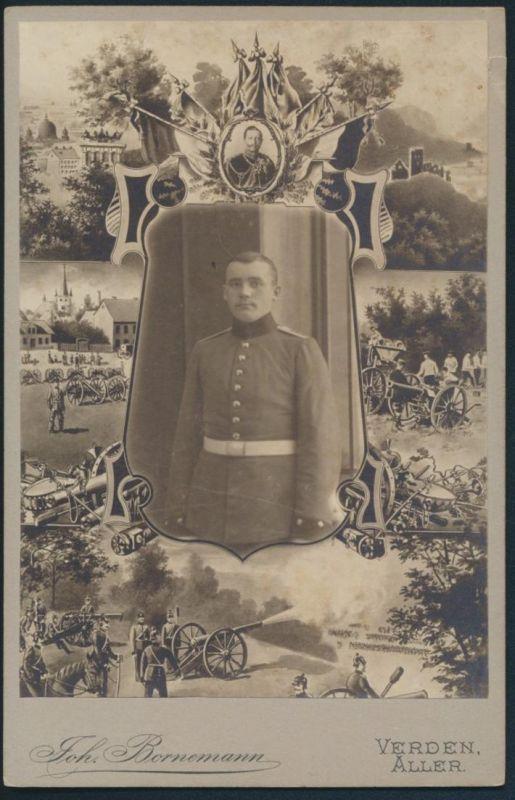 Militaria Krieg Original alte Fotoplatte Atelier Joh. Bornemann Verden Aller