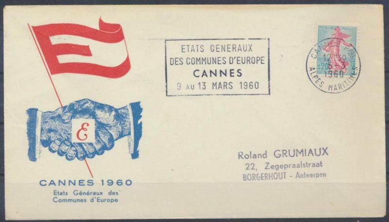 Frankreich Brief Cannes 1960