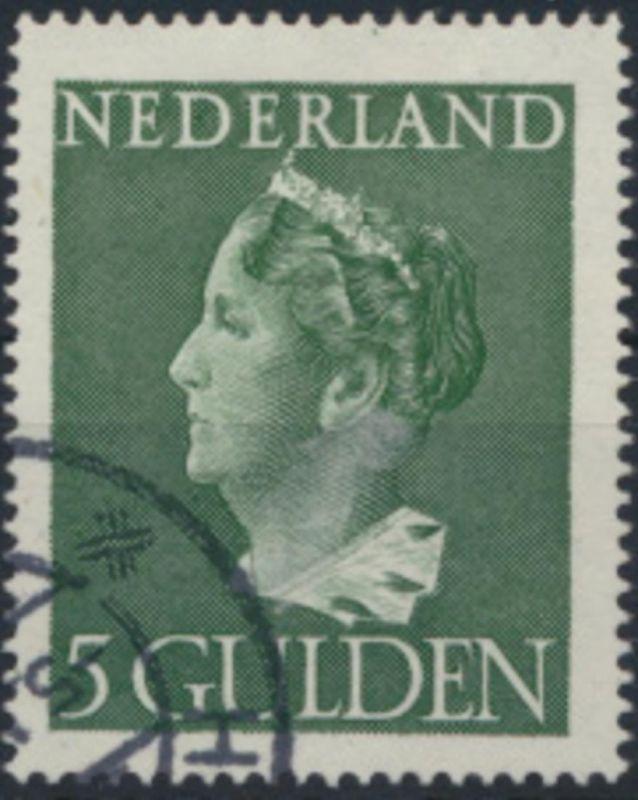 Niederlande 455 gestempelt - Königin Wilhelmina 5 Gulden grün