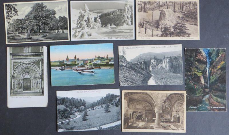 Sammlung Ansichtskarten Topographie Deutschland 116 Originale ca. 1900-1940