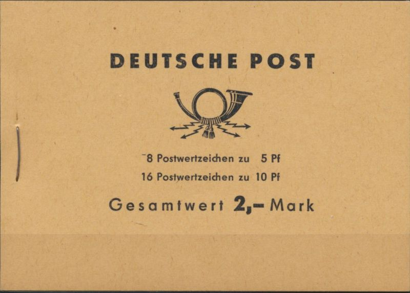 DDR Markenheftchen 4c1 Walter Ulbricht 1962 postfrisch **