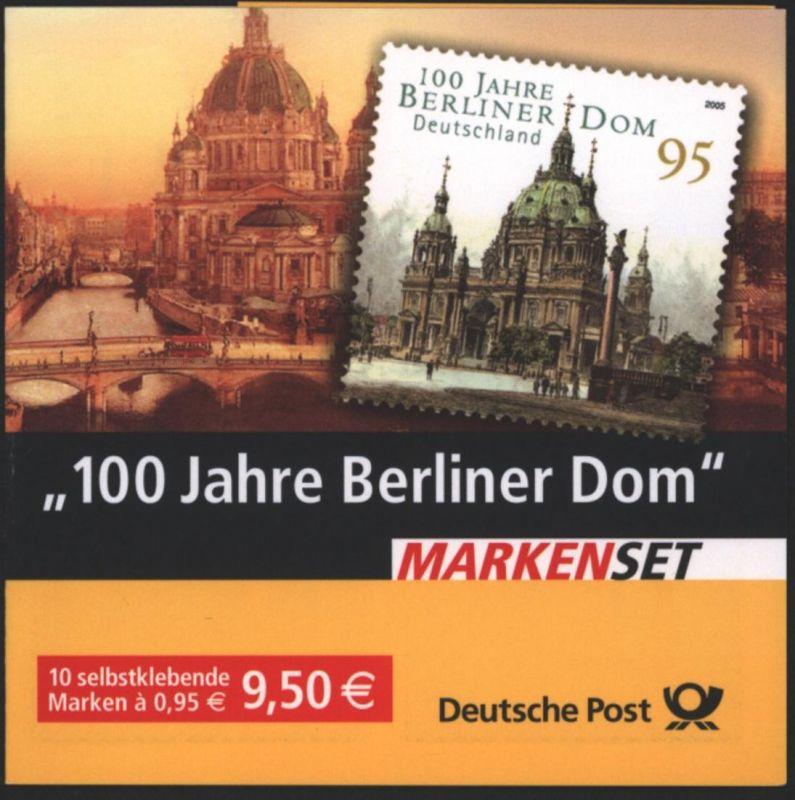 Bund Markenheftchen MH 57 Berliner Dom  2005 Ersttagsstempel BONN 0