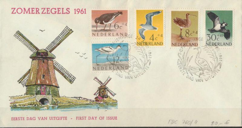 Niederlande 760-764 FDC Sommermarken Vögel