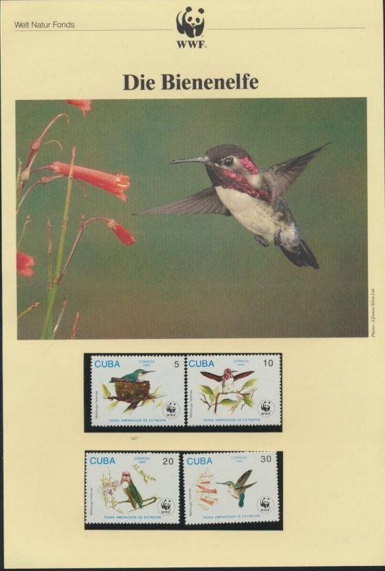 WWF Kuba Karibik 3589-3592 Die Bienenelfe kpl. Kapitel bestehend