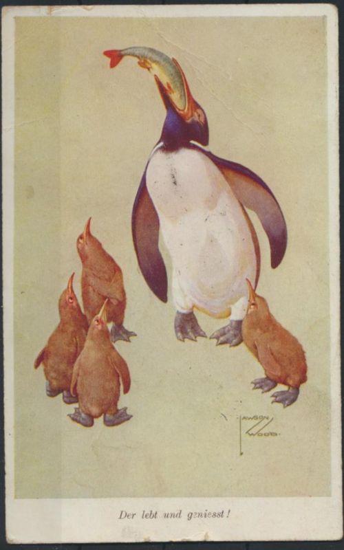 Ansichtskarte Künstler sign. Lawson Wood Verlag Wohlgemuth Berlin Tiere Pinguin