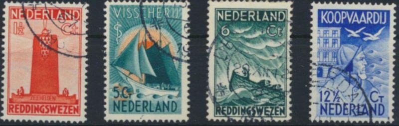 Niederlande 262-265 gestempelt - Seemannshilfe 1933