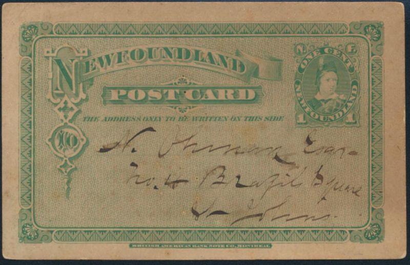 Neufundland New Foundland Ganzsache postal stationery 1 cent Prince of Wales