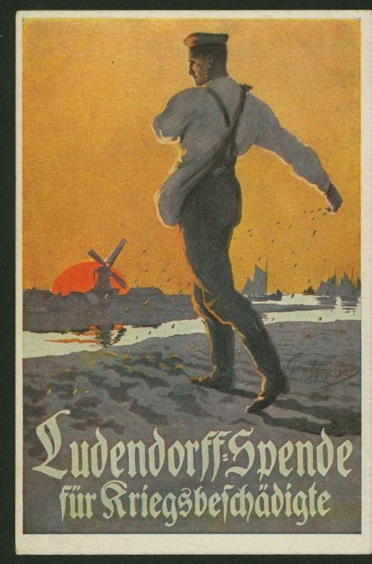 Ansichtskarte Ludendorff - Spende f. Kriegsgeschädigte Künstler Grotemeyer Nr. 6