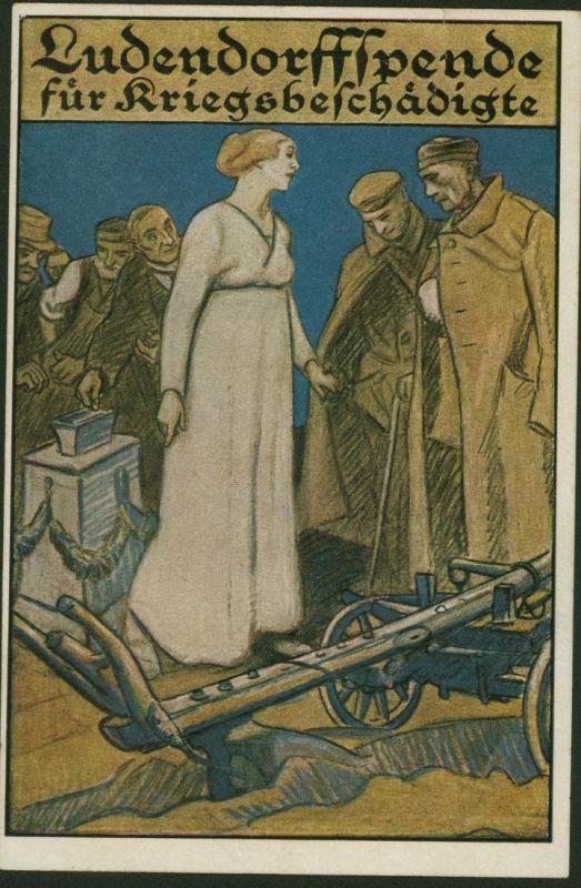 Ansichtskarte Ludendorff - Spende für Kriegsgeschädigte Künstler Schulz Nr. 5