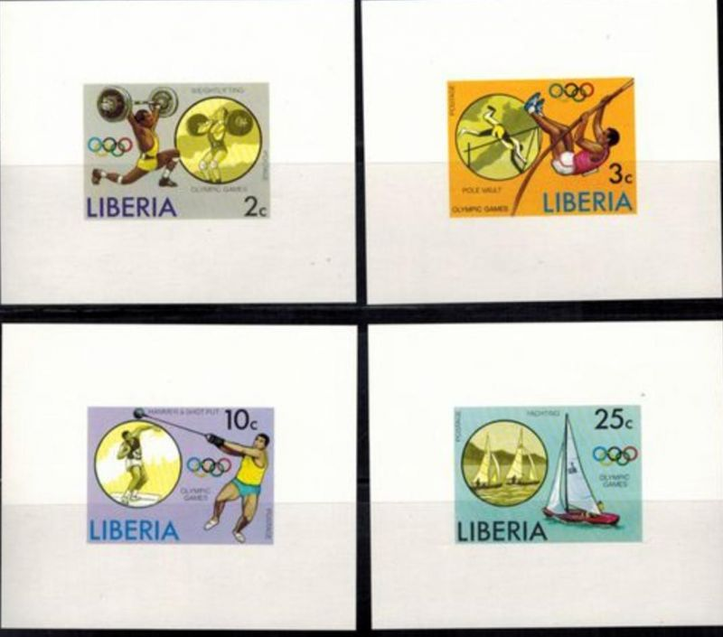 Liberia Olympia Sport Sommerspiele Montreal Sonderblocksatz ungezähnt postfrisch