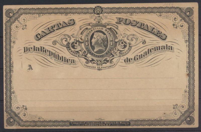 Guatemala Ganzsache mit privatem Zudruck postal stationery with private Print