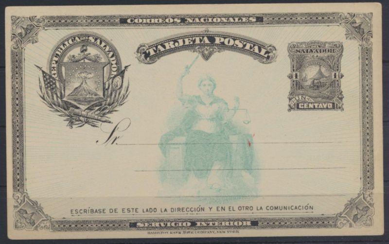 Übersee El Salvador Ganzsache postal stationery