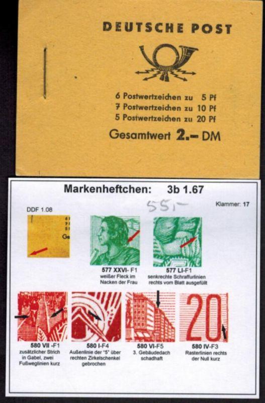 DDR Markenheftchen 3b1.67 Fünfjahresplan 1961 tadellos postfrisch