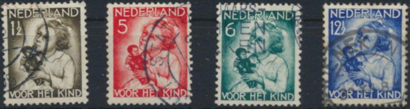 Niederlande 277-280 gestempelt - Voor het Kind 1934