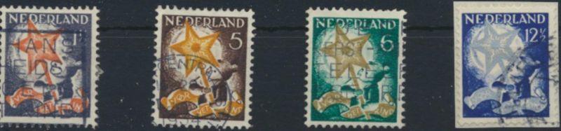 Niederlande 268-271 A gestempelt - Voor het Kind 1933