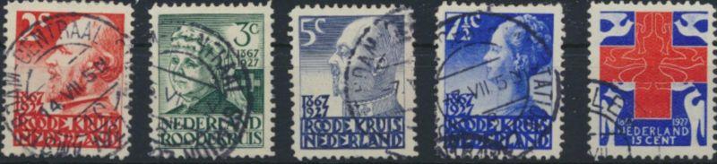 Niederlande 196-200 gestempelt - Niederländisches Rotes Kreuz