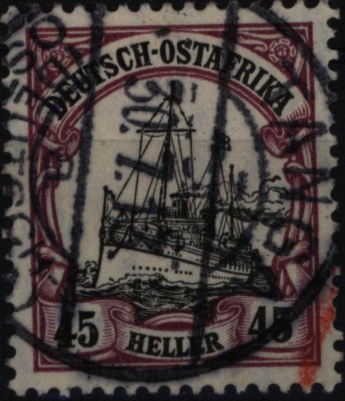 Deutsch-Ostafrika 36 Kaiseryacht 45 Heller 1906 DOA Kolonien gestempelt TANGA