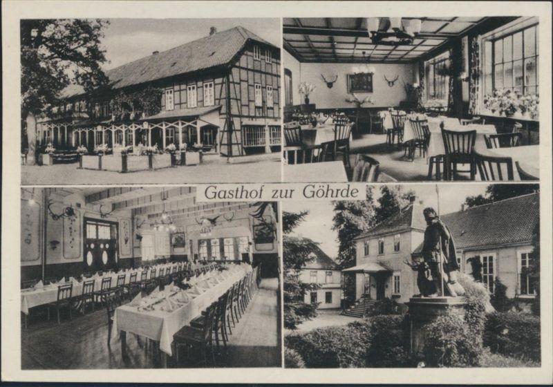 Ansichtskarte Göhrde über Dahlenburg Gasthof Ewald Schröder ADAC Vertragshotel