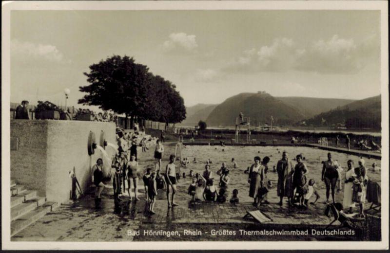 Ansichtskarte Bad Hönningen Rhein größtes Thermal-Schwimmbad Rheinland-Pfalz