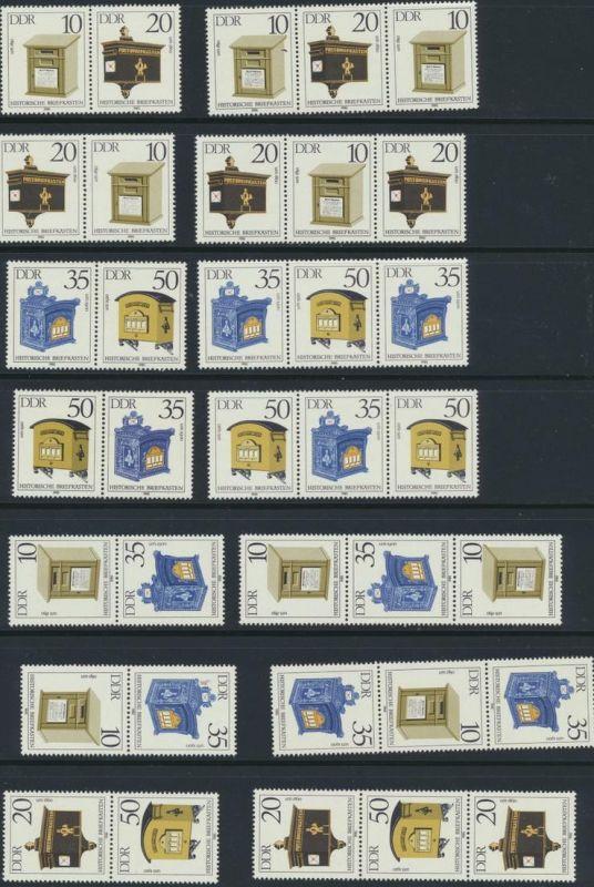 DDR Zusammendrucke aus 1985 ex 2924-2992 postfrisch