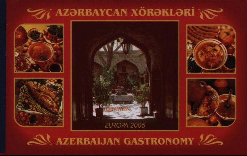 Aserbaidschan 610-611 Europa CEPT Markenheftchen MH 2005 Gastronomie postfrisch