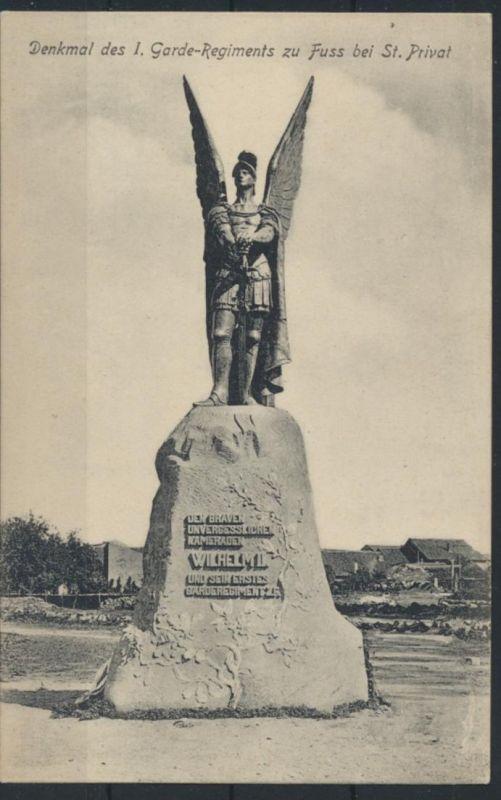 Militaria Ansichtskarte Denkmal 1. Garde Regiment zu Fuss bei St. Privat