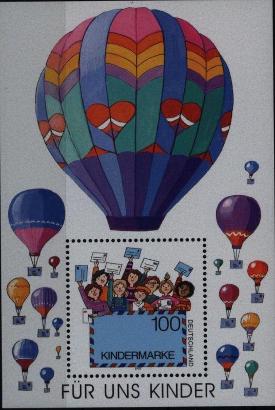 Bund Block 40 Plattenfehler I postfrisch Blockausgabe Für uns Kinder 1997
