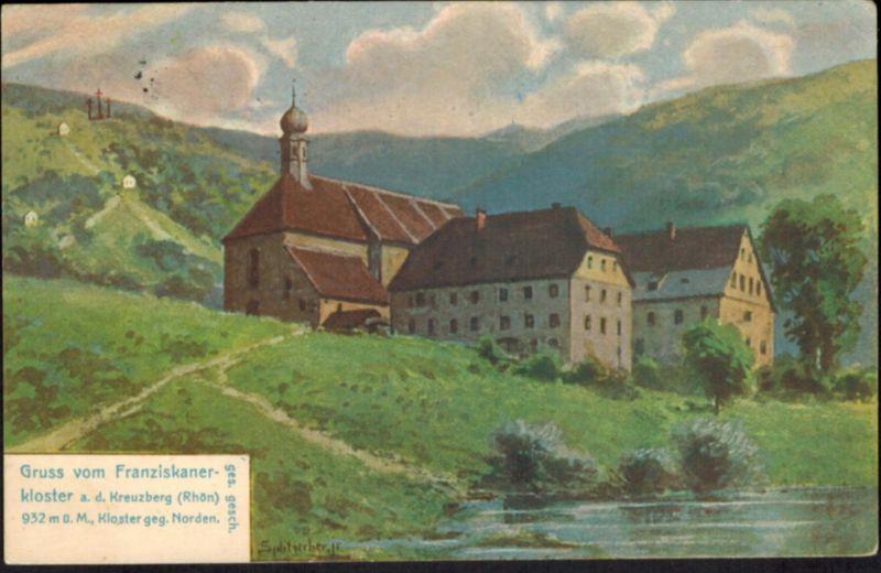 Ansichtskarte Bischofsheim Franziskanerkloster Künstler sign. Splitgerber Berlin