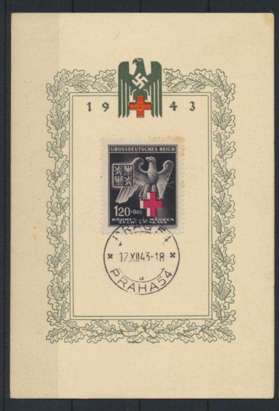 Böhmen und Mähren 132 Rotes Kreuz auf Sonderkarte