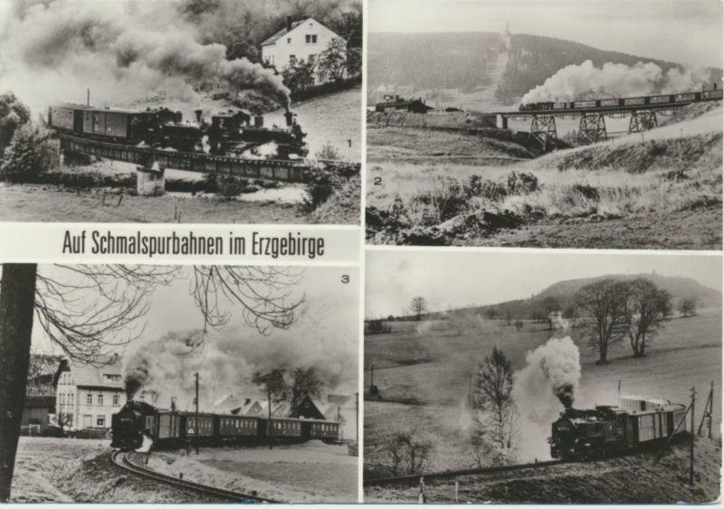 Ansichtskarte Schmalspurbahn im Erzgebirge Eisenbahn