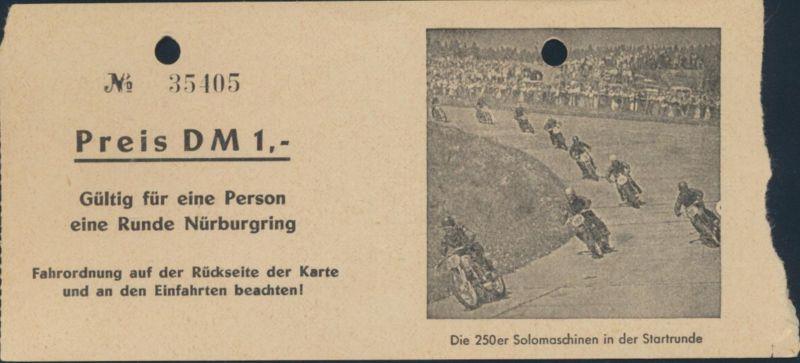 Ticket Gutschein Eintrittskarte 1 Runde Nürburgring + Fahrordnung Auto Rennsport 2
