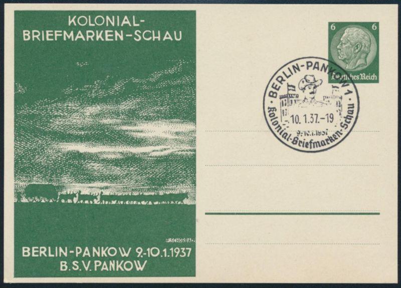 Dt. Reich Privatganzsache PP 127 C 25 Berlin-Pankow Kolonien Philatelie SST